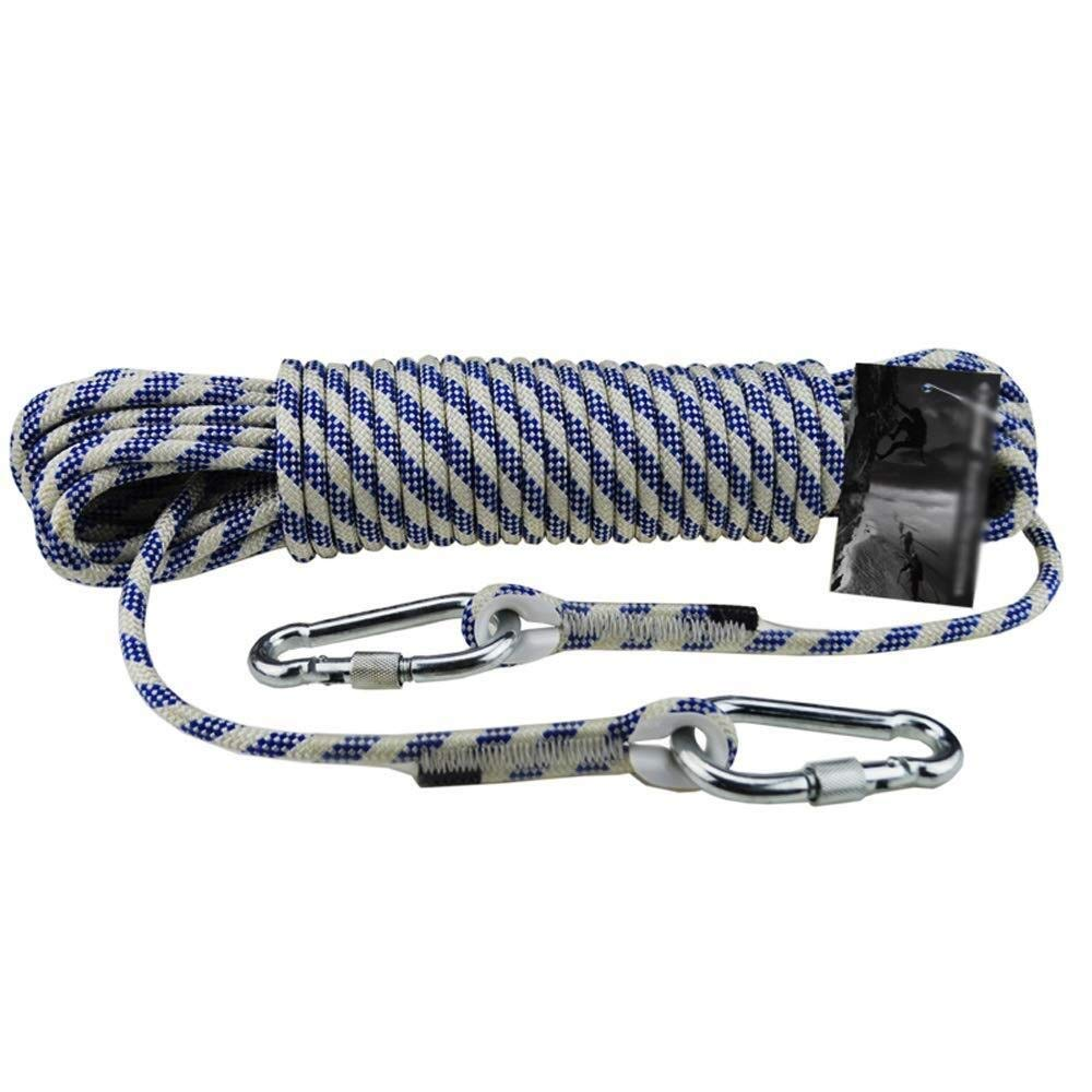 - ZSMPY Alpinisme Corde Auxiliaire 8mm Corde en Nylon Corde D'évasion Corde d'escalade en Plein Air Corde d'escalade ZS 15m