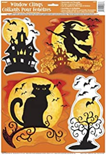 spooky hollow halloween window cling sheet - Halloween Window Clings