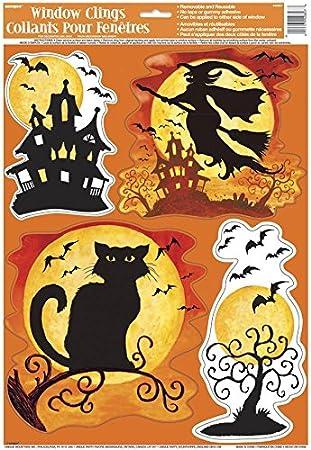 38cm x 30cm Unique Party 29390 Large Plastic Spooky Smiles Halloween Party Bag