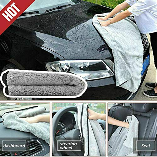 Karooch Auto-Mechanic Cleaning Towels, Shop Rags 100% Plush Royal Grade Coral Velvet Perfect for Your Garage, Auto Microfiber Dishcloth (40x40 cm)