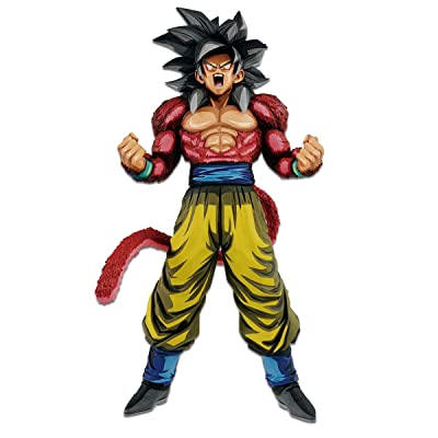 Banpresto 35742 Dragon Ball GT Master Starspiece Super Saiyan 4 Son Goku Manga Dimensions Figure, Multicolor: Toys & Games