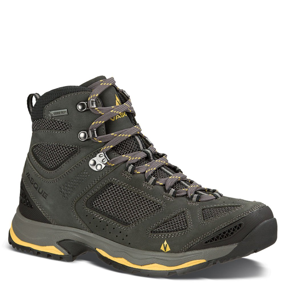 Vasque Men's Breeze III GTX Waterproof Hiking Boots (Magent/Yellow, 10 W US)
