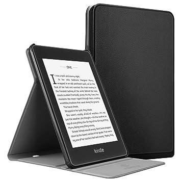 Fintie Funda para Kindle Paperwhite (10.ª generación, 2018) - Carcasa Delgada con Soporte de Multiángulo y Función de Auto- Reposo/Activación, Negro