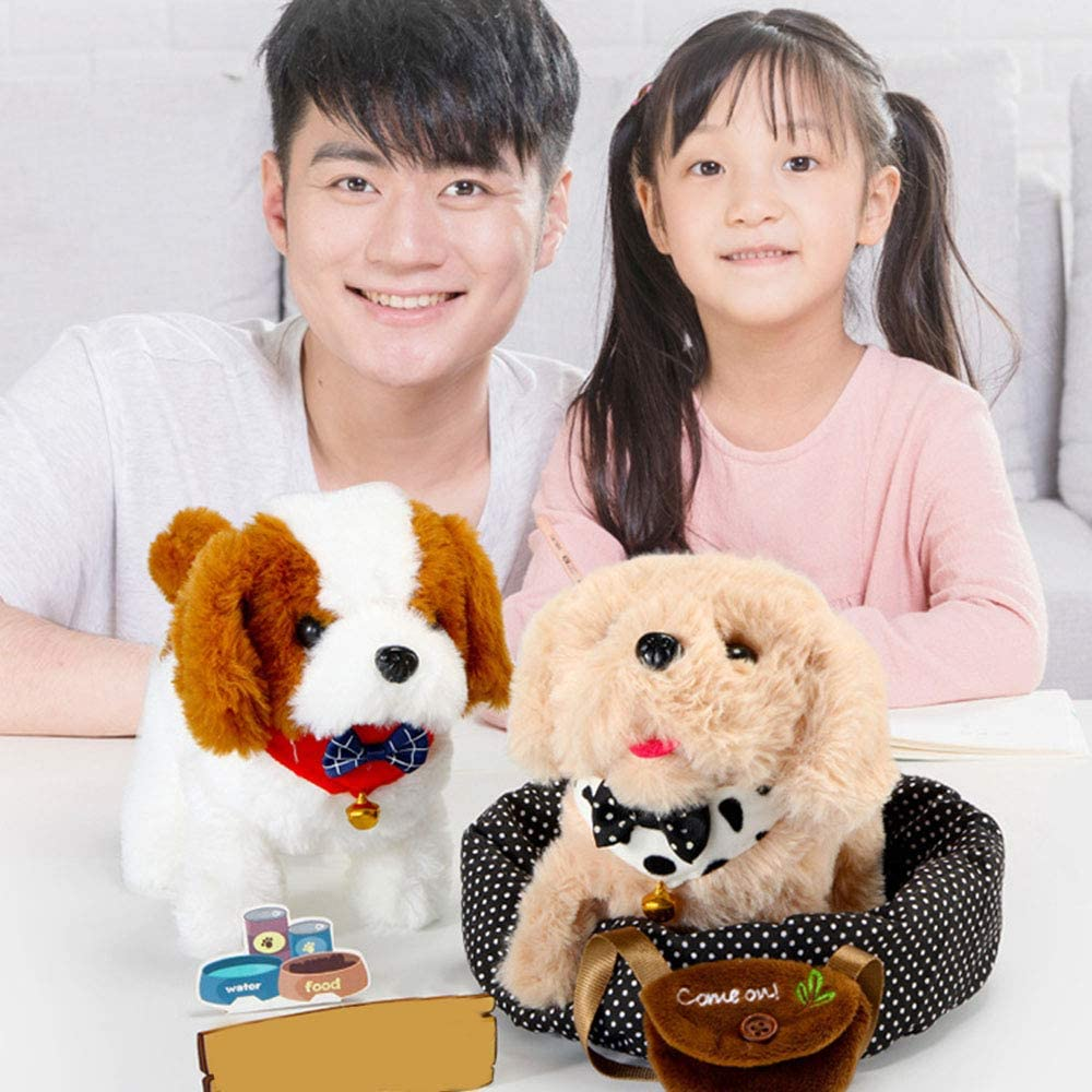 Childrens Electric Toy Simulation Plush Dog Will Call Walking Puppy Smart Dog Toy TREA2SURE Electronic Pets Robot Dog