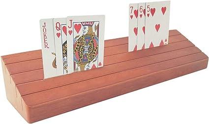 N I Porta Carte Da Gioco Porta Carte A Mani Libere Porta Carte Di Legno Porta Carte Da Poker Organizzatore Da Tavolo Carte Vivavoce Da Appoggio Per Bambini Adulti Anziani Amazon It Casa E