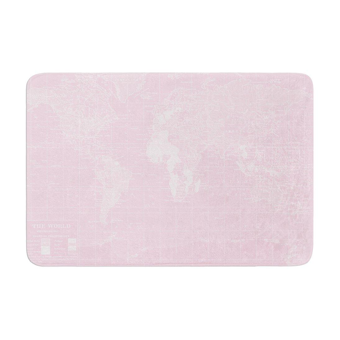 Kess InHouse Catherine Holcombe Her World Memory Foam Bath Mat 17 by 24
