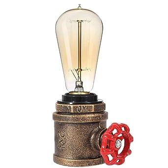 Lámpara de escritorio vintage Lámpara de mesa de color óxido ...