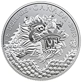 2018 Dragon Luck and Good Fortune $8 Pure Silver Coin 99.9% - Limited Edition by the Royal Canadian Mint