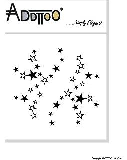 2 x Star Tattoo Stripes - Tattoo Stars - Stars - Falling Stars ...