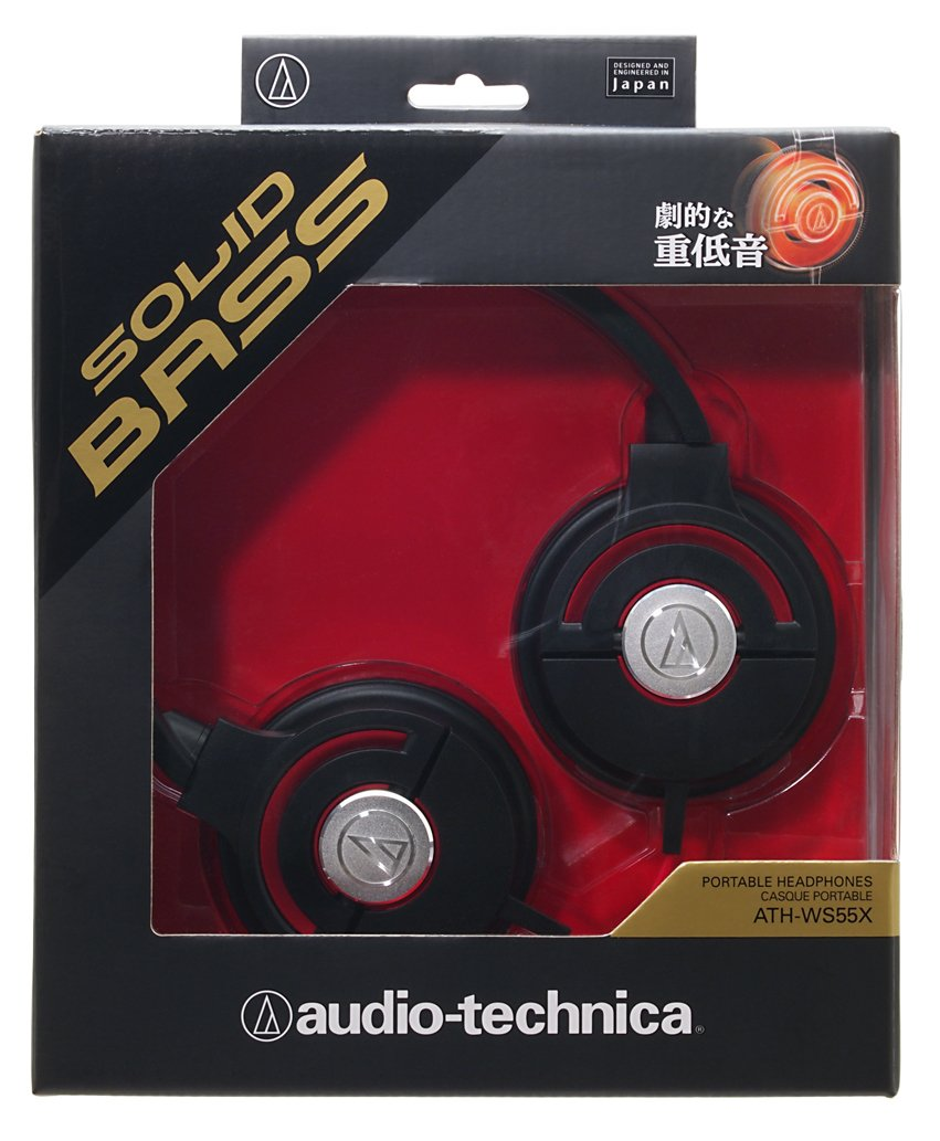Audio Technica Ath Ws550is Solid Bass Headphones Black Red Daftar Ws990bt Hi Res Bluetooth Headphone Hitam Amazoncom Portable Ws55x