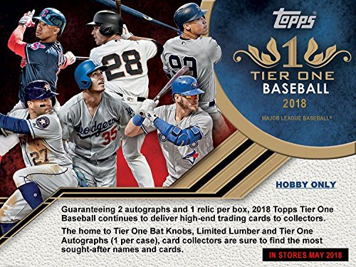 Legends Auto Card - 2018 Topps Tier One Baseball Hobby Box - In Stock May 16th, 2018 - Pre Order Now!