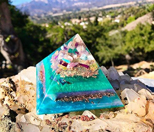 Orgonite Pyramid / Goddess Crystals / Violet Flame Orgone Pyramid by Violet Flame Orgone