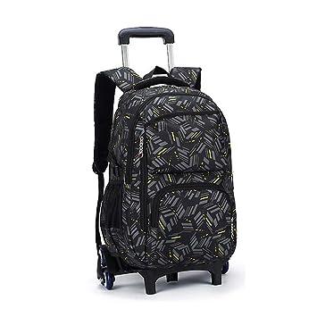 THBEIBEI Rolling Laptop Backpack Equipaje Mochila Sobre Ruedas Trolley Bolsas Escolares con Seis Ruedas para niños