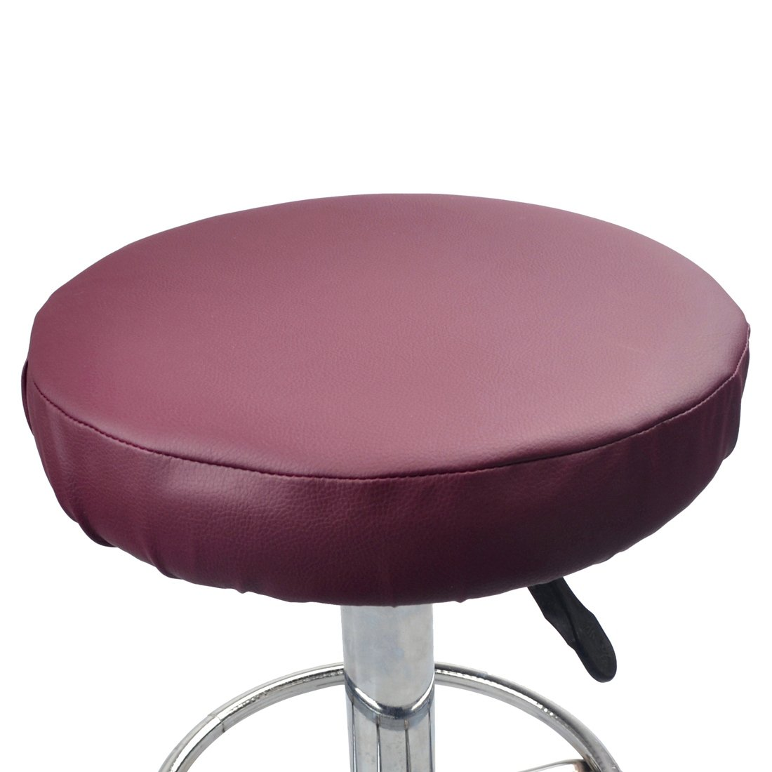 Enerhu Faux Leather Stool Cover Round Bar Stool Slipcover Waterproof Diameter 11.8