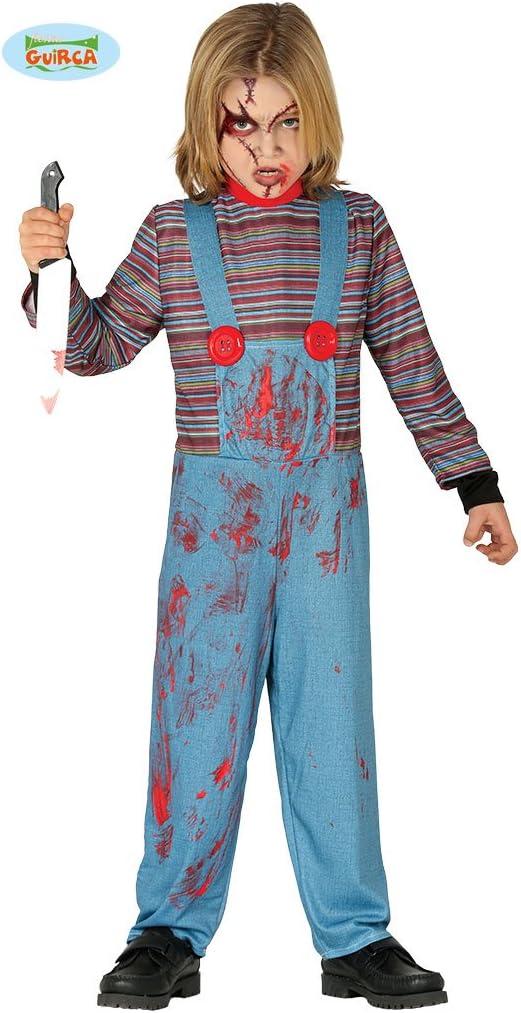 Guirca - Disfraz Chuckie niño 10/12 años, Color Azul y Rojo, de 10 ...