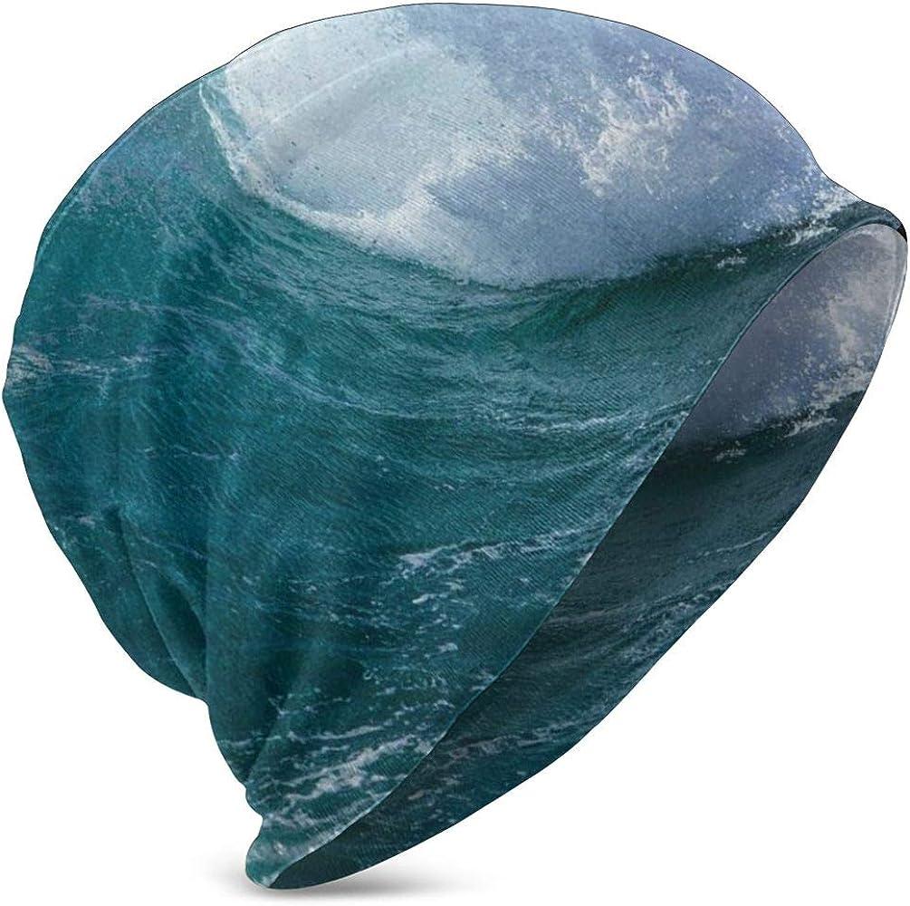JIMSTRES Beanie Knit Cap for Boy Girl, Crashing Foamy Ocean Water ...