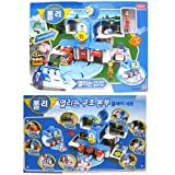 Robocar Poli Convertible Rescue Center Headquarter Play set & 4 pcs Diecast Toy(Poli, Roy, Amber and Heli)