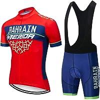 ZHLCYCL Maillot Ciclismo, Ropa Ciclismo y Culotte Ciclismo con 5D Gel Pad para Verano Deportes al Aire Libre Ciclo Bicicleta