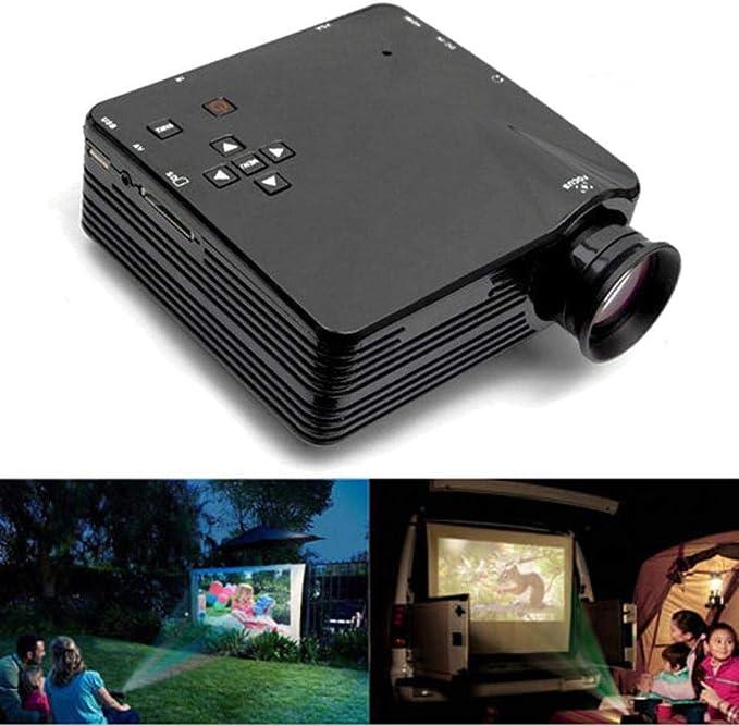 H80 640x480 Mini proyector LED para 1080P Inicio TV Ayuda: Amazon.es: Electrónica