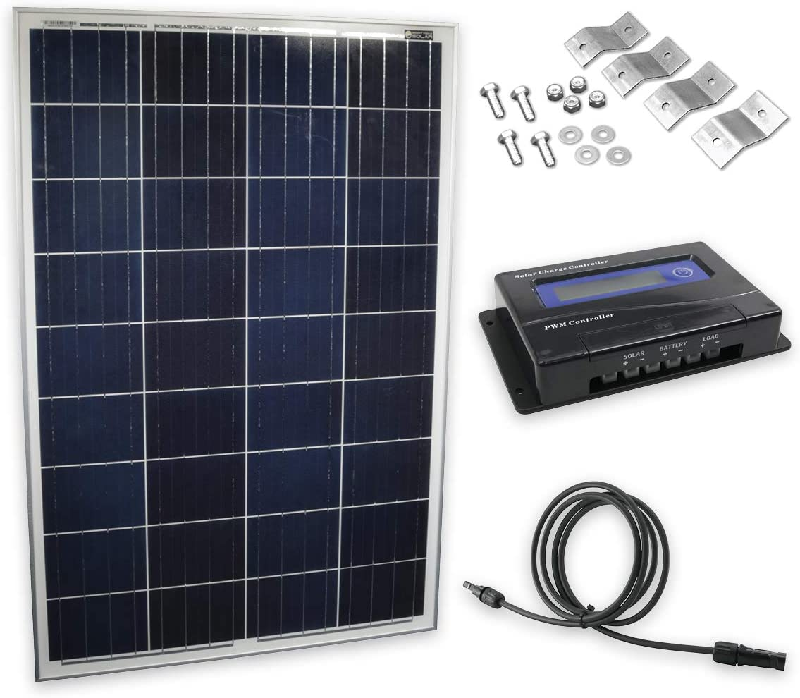 Amazon Com 100 Watt Solar Panel Kit Garden Outdoor