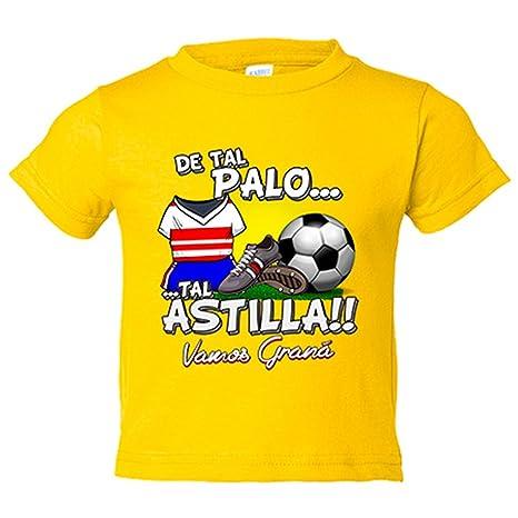 Camiseta niño De tal palo tal astilla Granada fútbol - Amarillo, 3-4 años