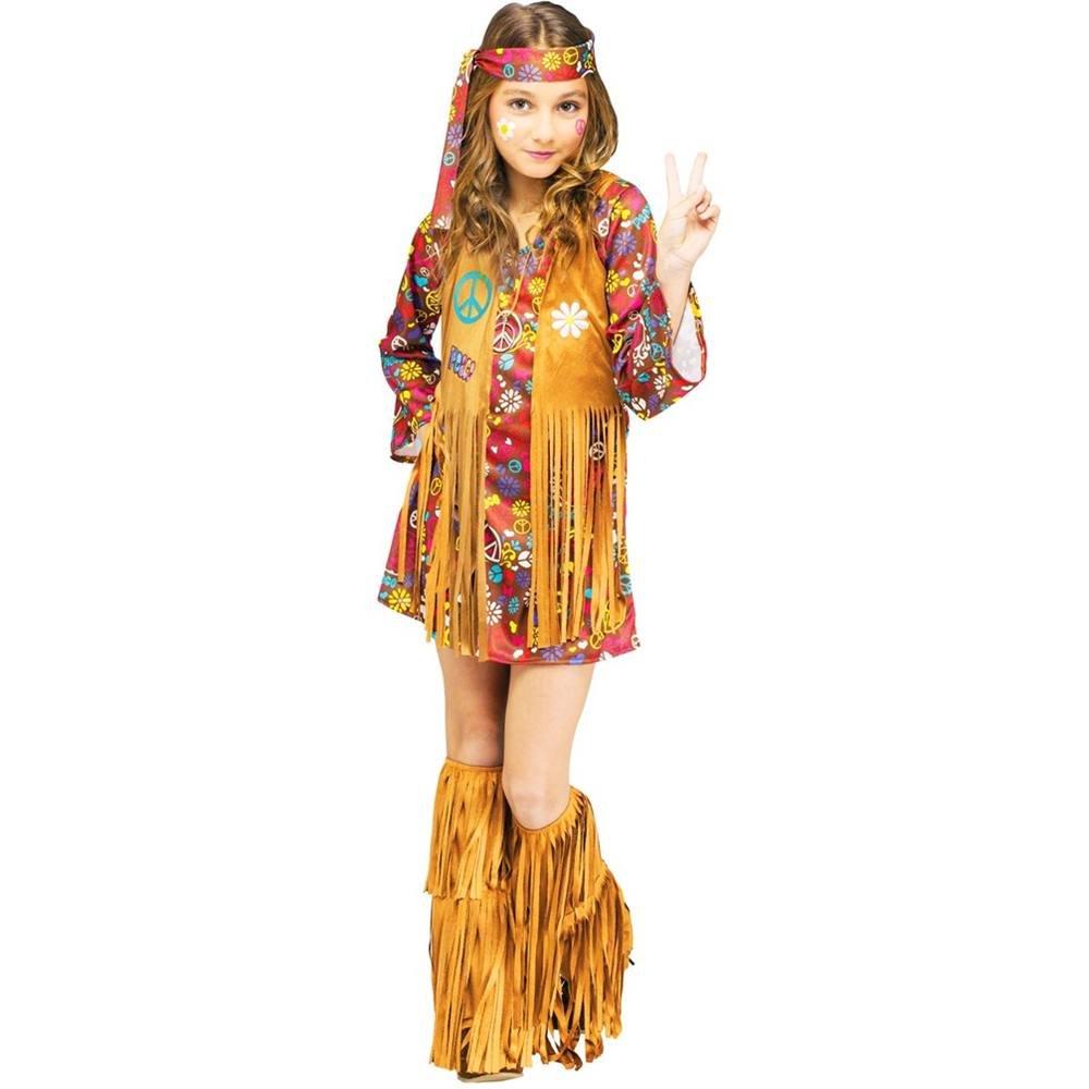 Fun World - Hippie Peace Love Kinderkostüm - 146-152cm