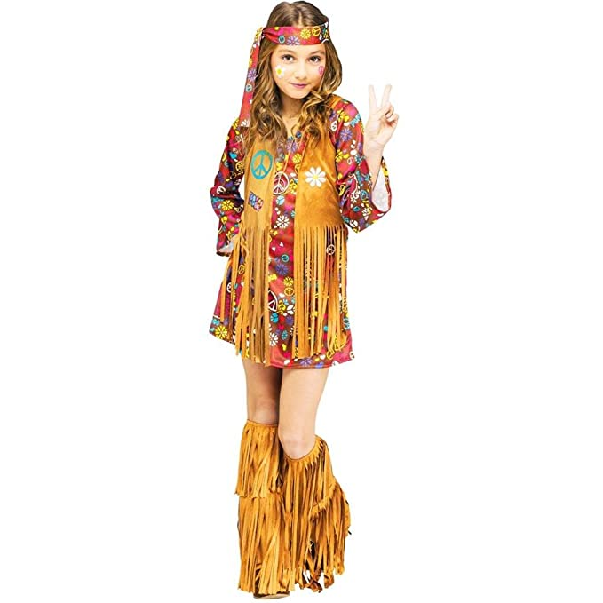 60s 70s Kids Costumes & Clothing Girls & Boys Fun World Girls Peace & Love Hippie Costume Multicolor Small 4-6 $24.83 AT vintagedancer.com