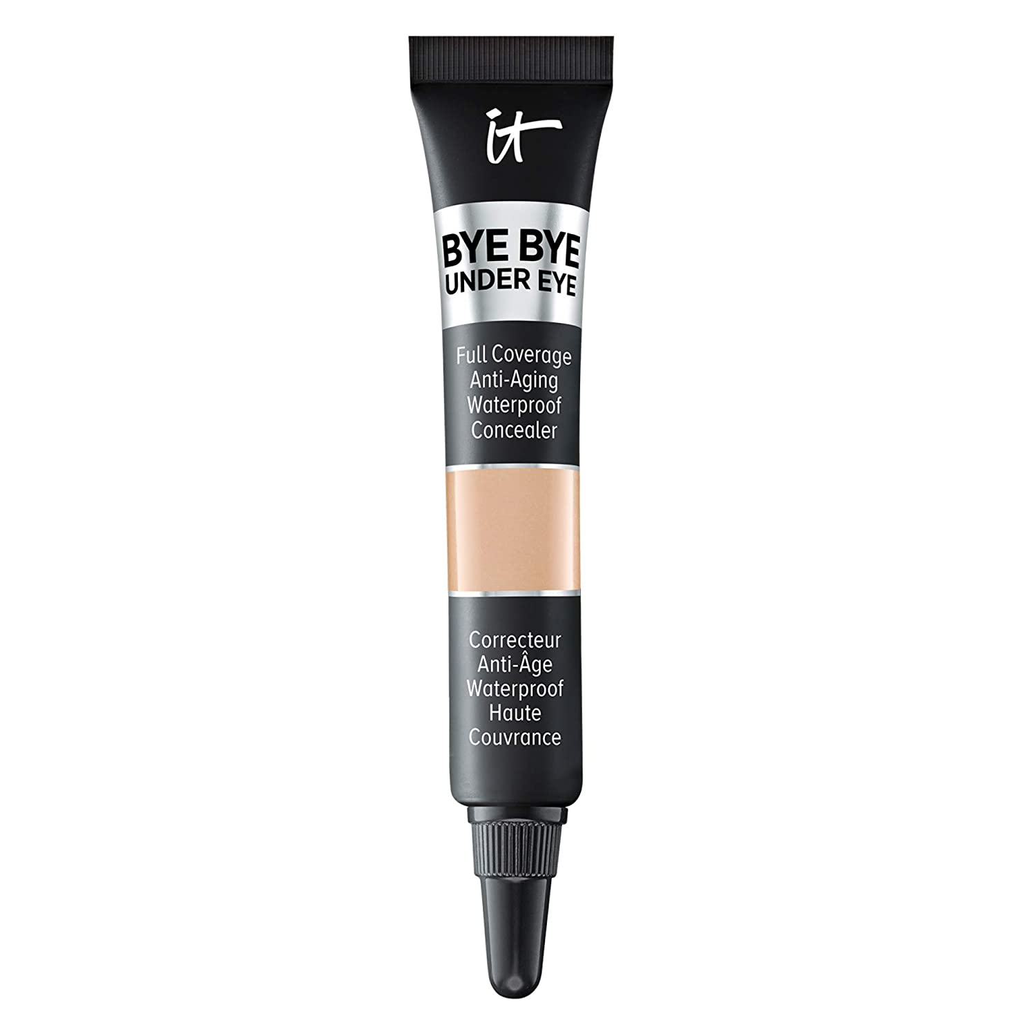 IT Cosmetics Bye Bye Under Eye, 13.0 Light Natural (N) - Travel Size - Full-Coverage, Anti-Aging, Waterproof Concealer - Improves the Appearance of Dark Circles, Wrinkles & Imperfections - 0.11 fl oz