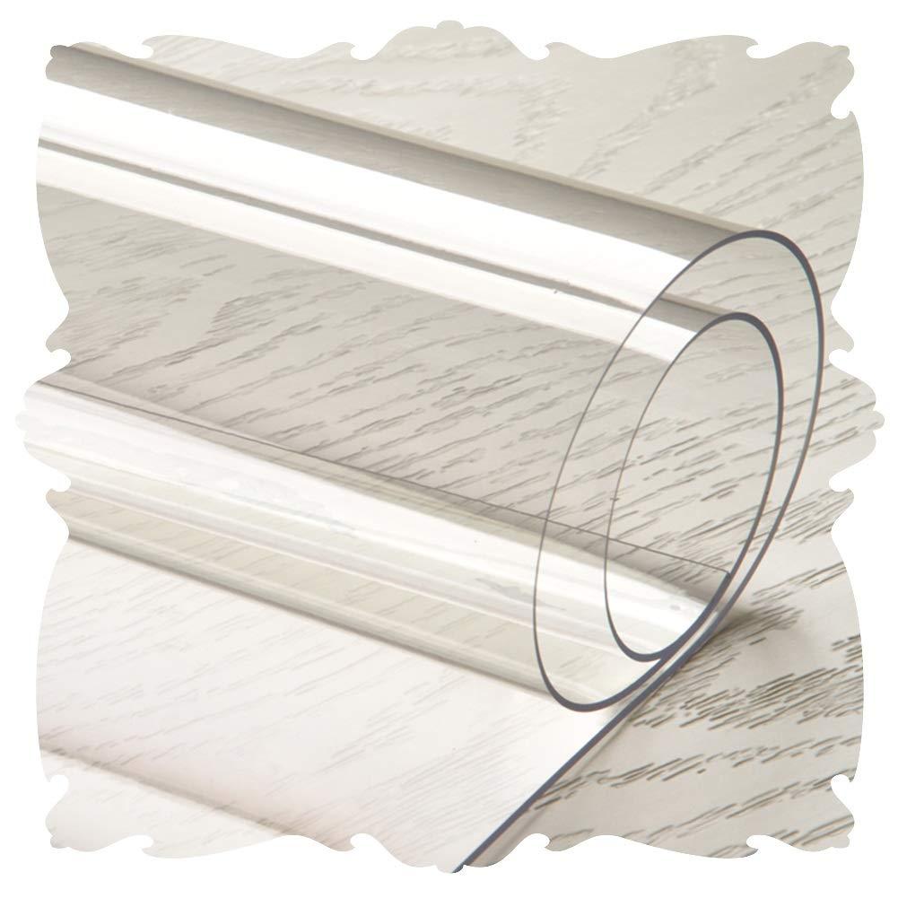 JIAJUAN 床保護マット 非常に トランスペアレント PVC 事務所 チェアマット 無臭 ハードフロア 保護 マット 厚くする 滑り止め、 カスタマイズ可能 (Color : 3mm, Size : 70x130cm) 70x130cm 3mm B07T21DVYT