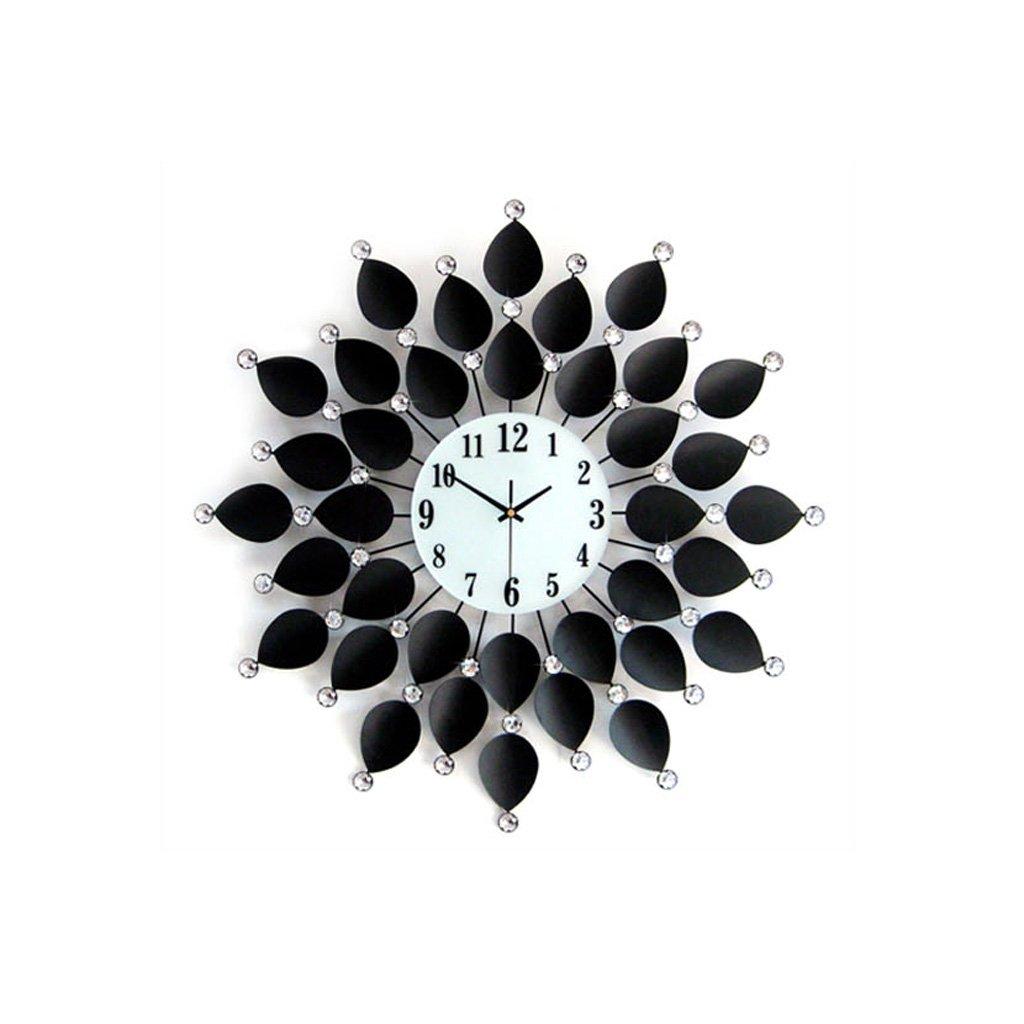 ヨーロッパのヴィヴィッドアイアンダイヤモンドクロック、パーソナライズされたクリエイティブベッドルームシングルラウンドウォールマウントクロック、シンプルなメタルポインターガラスの曇りガラスミラーミュートウォールクロック (サイズ : 67cm) B07FPZ9CL5 67cm 67cm