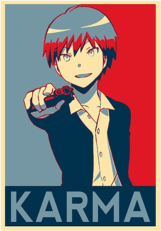 Amazon Com Poster Assassination Classroom Propaganda Karma A3 42x30 Cm Posters Prints