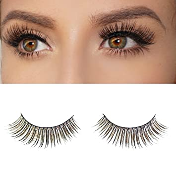 092252f162b Amazon.com : Milanté BEAUTY Sultry False Lashes Vegan Black Brown Natural  Thick Long Full Reusable Fake Strip Eyelashes : Beauty