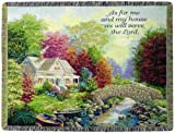 Manual Inspirational Collection 50 x 60-Inch Tapestry Throw, Autumn Tranquility with Joshua 24:15