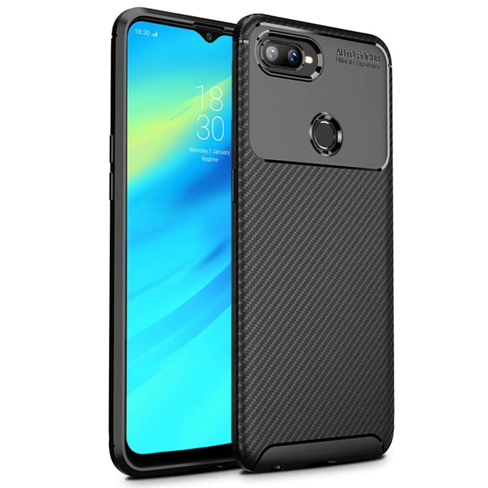 sports shoes 888b7 6aa88 REALIKE Realme U1 Back Cover, Flexible Texture Pattern Carbon Fiber Back  Case for Realme U1 (Carbon Black)