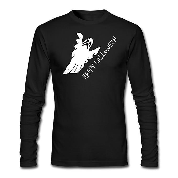 Hombre de la calabaza de flotador de Gloomy blanco fantasma Halloween T Shirts largo manga -: Amazon.es: Ropa y accesorios