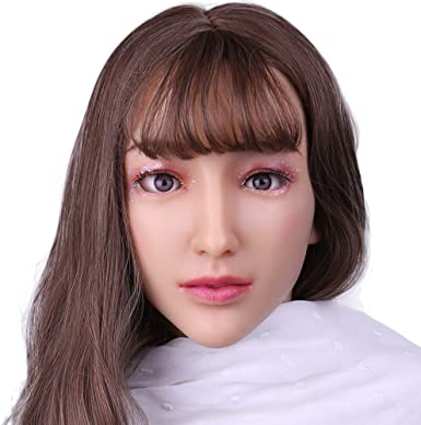 2 Hand Painged Vinyl Girl Heads//Neck with Brown Eyes