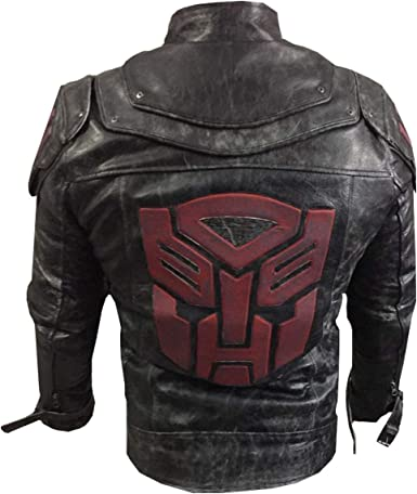 Mens Smokey and The Bandit Red Trans Am Leather Jacket 2XS to 3XL