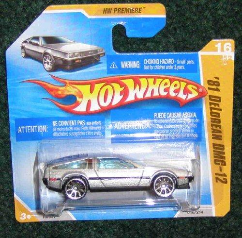 Hot Wheels 2009 HW Premiere International Short Card 16 of 52 Silver '81 Delorean DMC-12