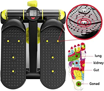 Fitness Stepper Hogar Silencioso Stovepipe Swing Stepper M/áquina de Ejercicios para Adelgazar con Pull-Up Mini Paso a Paso Lateral Giratorio multifunci/ón 150 kg de Carga