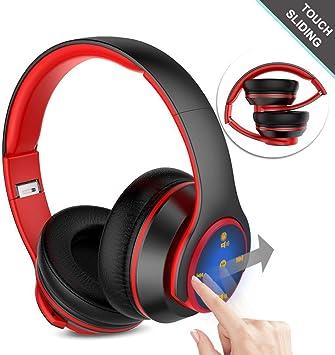 Auriculares Inalámbricos Bluetooth 4.0, Navtour 4 en 1 Reproductor de Control Táctil y Diapositiva Plegable, Auriculares