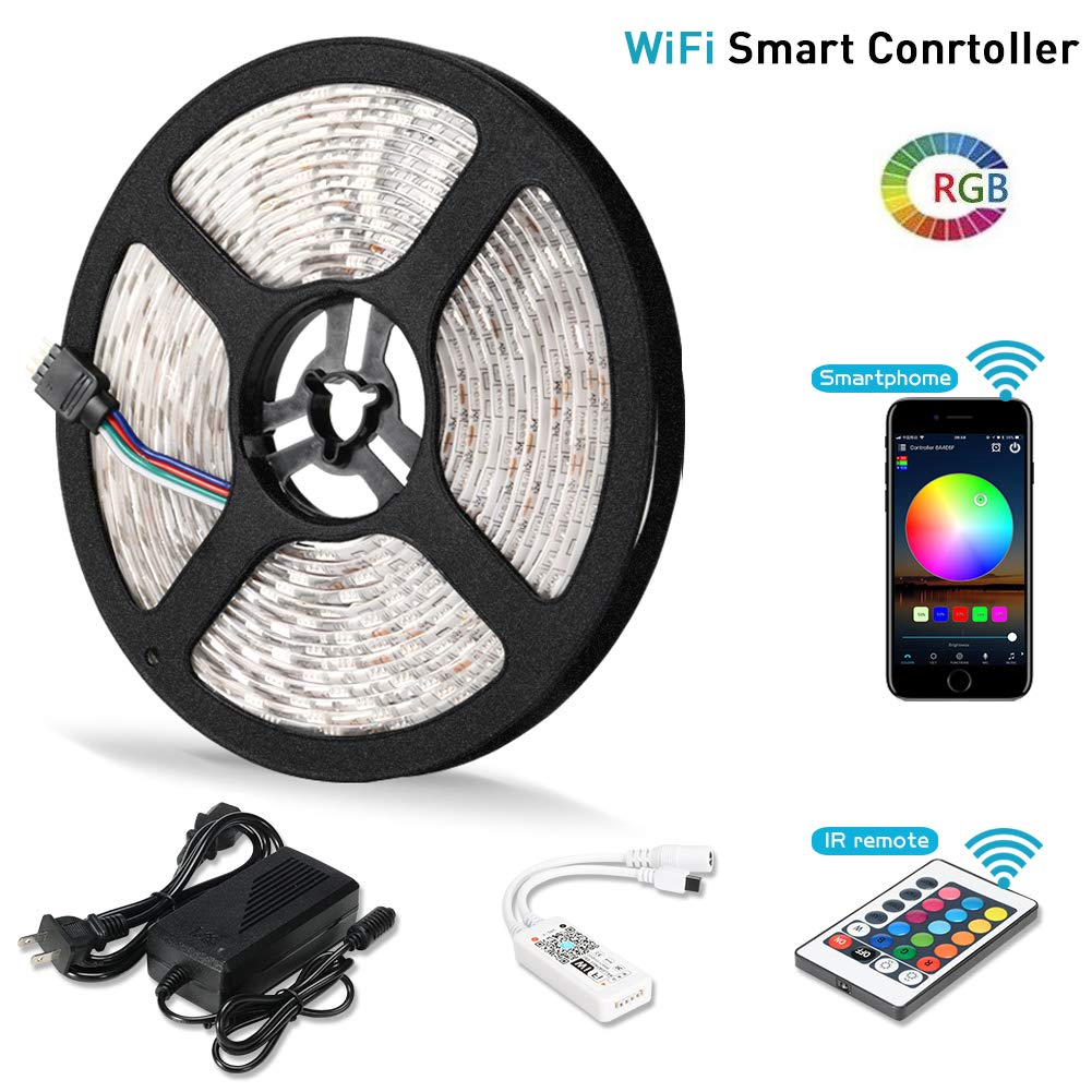 Litake Led Strip Lights Wifi Wireless Smart Phone App Structured Wiring Homepro S At A Glance Controlled Light Kit 164ft 300 Leds 5050 Waterproof Ip65 Working With