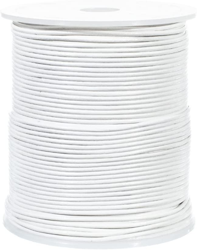 25 Yard Spool of Round Leather Cord Black, 1.5mm