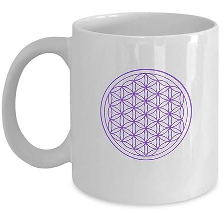 Esoteric Coffee Mug - Flower of Life Mandala Yoga Symbol ...