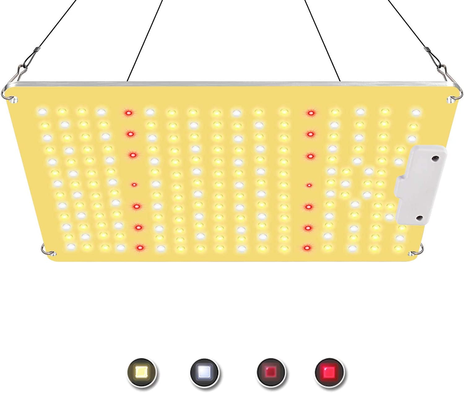 Mrhua Newest QB 1000W Led Grow Lights 2x2ft IR Sunlike Full Spectrum with High Efficacy Diodes Commercial Plant Grow Light for Indoor Plants Hydroponic Plants,Veg Bloom and Greenhouse