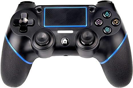 Sades - Mando inalámbrico para PS4 DualShock 4 para Playstation 4 con doble viración y conector de 3,5 mm: Amazon.es: Electrónica