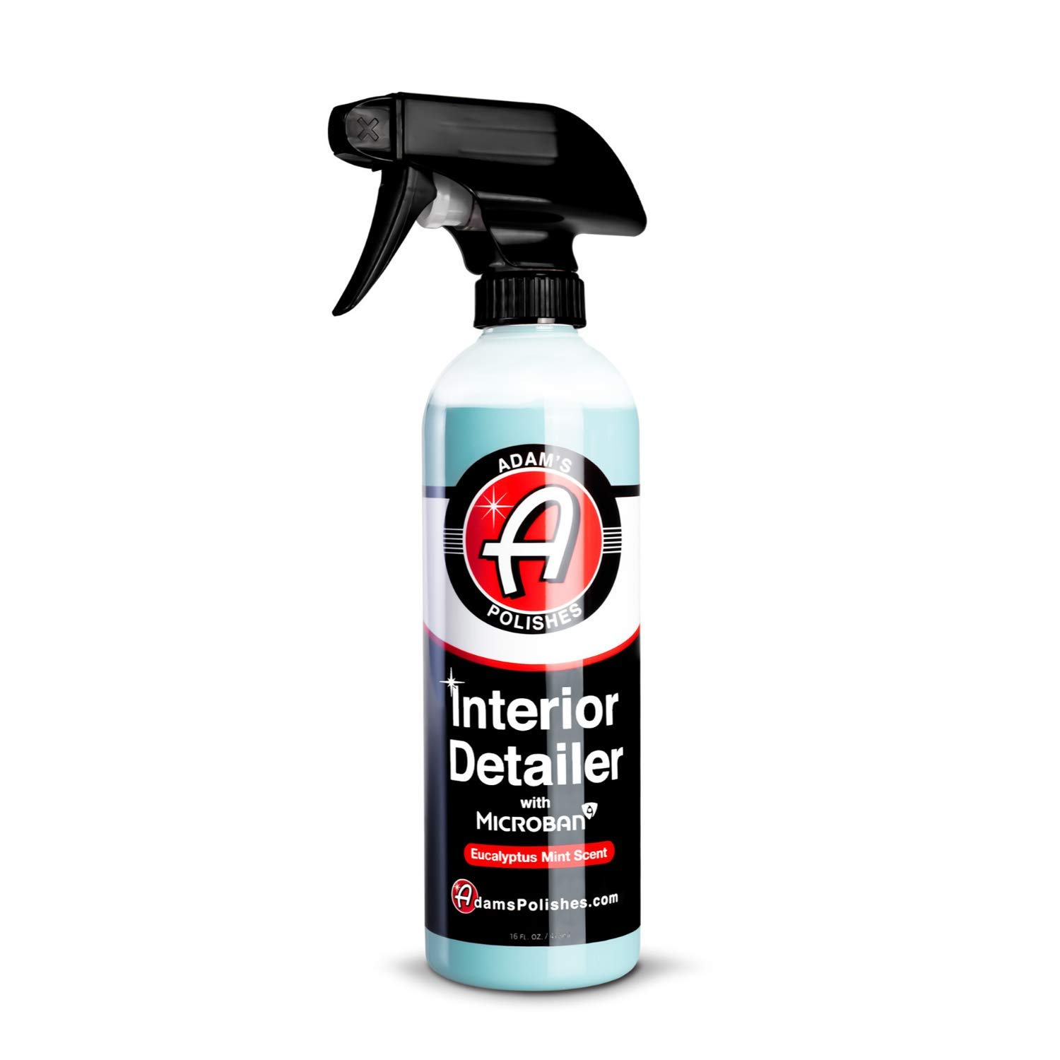 Adam's Microban Interior Detailer (16oz, Original) - Antimicrobial Car Interior Cleaner & Dressing for Car Detailing | Reduces Bacteria Microbes | UV Protection Leather Cleaner & Conditioner