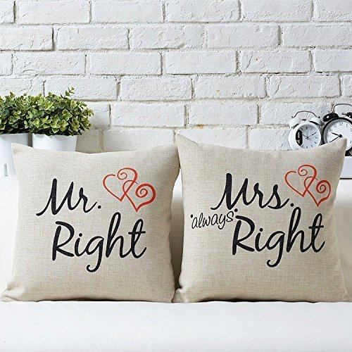 Uphome Couples Decorative Cushion Pillowcases