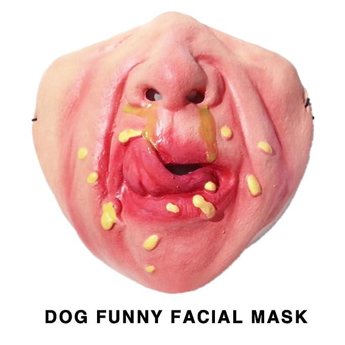 Aprettysunny Máscara de Perro Enmascarado Pet Durable Latex 8 Style Dog Pet Accessories: Amazon.es: Productos para mascotas