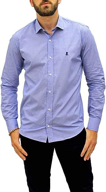 EL PULPO Camisa Cuadrille 4019 Azul Hombre: Amazon.es: Ropa y accesorios