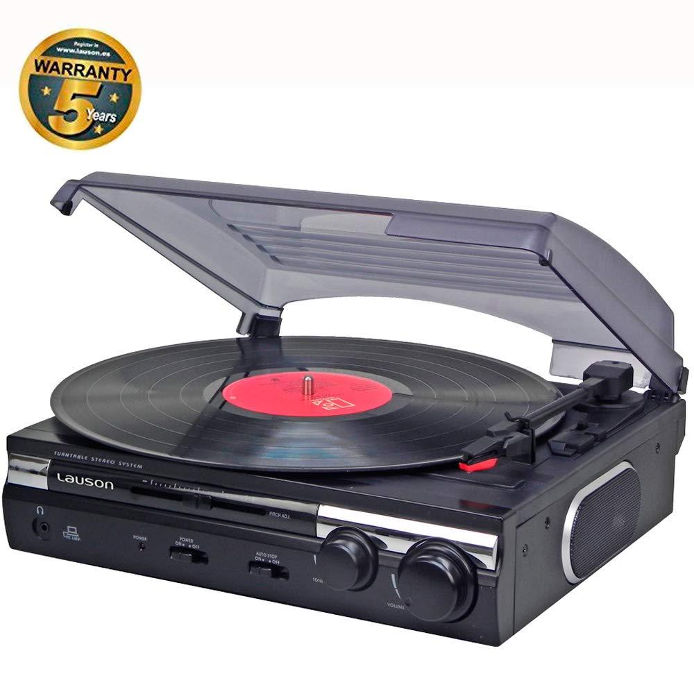 Tocadisco Lauson Función de Grabación Encoding PC-Link | Tocadiscos de Vinilo Vintage con Altavoces Incorporados | Reproductor de Vinilo con 2 ...
